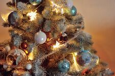 Beautiful Christmas Tree Toys Royalty Free Stock Images