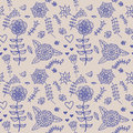 Free Cute Colorful Floral Seamless Pattern Stock Image - 36410451
