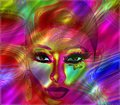 Free Colorful Abstract Of A Woman&x27;s Face In Red. Stock Image - 36413441