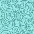 Free Seamless Abstract Hand-drawn Vector Pattern, Waves Stock Image - 36414851