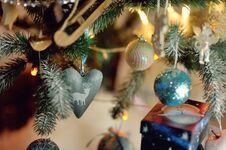 Beautiful Christmas Tree Toys Stock Photos