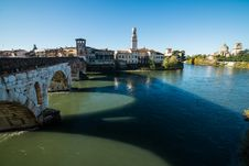 Free Ponte Pietra And The River Adige, Italy, Europe Royalty Free Stock Image - 36410276