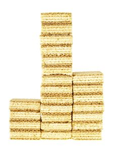 Top Stack Wafer Stock Photography