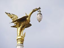 Free Art Swan Lamppost Stock Photos - 36412333