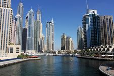 Free View Of Dubai Marina Royalty Free Stock Photo - 36413995