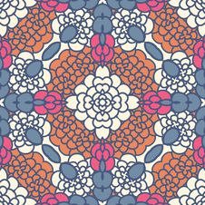 Free Floral Seamless Pattern Royalty Free Stock Images - 36414589