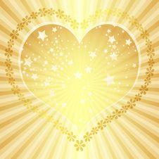 Golden Valentine Frame Royalty Free Stock Images