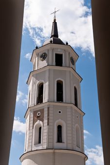 Free Belfry Tower Of A Vilnius Cathedral Stock Photography - 36415032