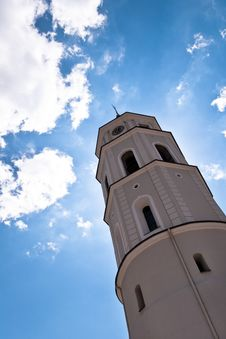 Free Belfry Tower Of A Vilnius Cathedral Stock Photos - 36415033