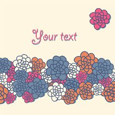 Free Greeting Card With Flowers Stock Photos - 36415053