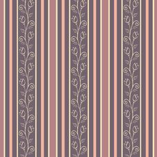 Free Retro Seamless Pattern Background With Elegance Fl Stock Photo - 36416090