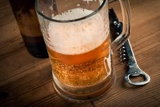 Beer Mug And Beer Bottle Royalty Free Stock Photos