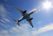 Free Plane In The Sky Royalty Free Stock Image - 36416726