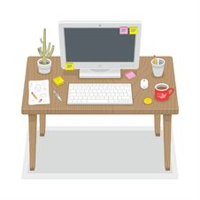 Free Computer Desk Royalty Free Stock Photos - 36417568