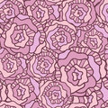 Free Seamless Vector Pattern With Vintage Roses Royalty Free Stock Photos - 36427148