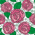 Free Seamless Vector Pattern With Vintage Roses Royalty Free Stock Photography - 36427397