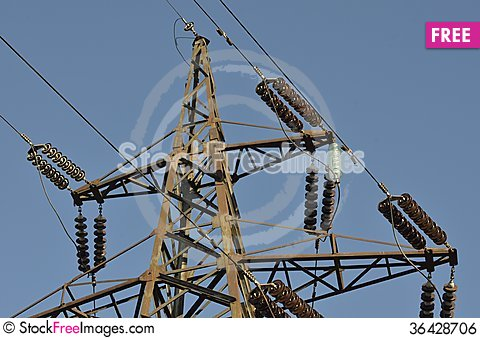Free Support Power Lines Royalty Free Stock Image - 36428706