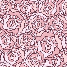 Free Seamless Vector Pattern With Vintage Roses Royalty Free Stock Images - 36427199
