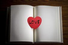 Free Diary Of Love Stock Photos - 36428043
