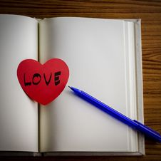 Free Diary Of Love Royalty Free Stock Photography - 36428207