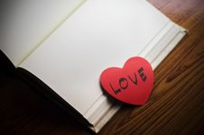 Free Diary Of Love Stock Photo - 36428550
