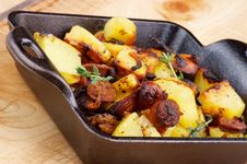 Sausages And Potato Stew Royalty Free Stock Photography
