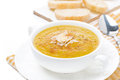 Free Cream Soup Of Yellow Lentils With Vegetables In A Bowl Stock Images - 36435654