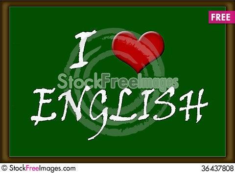 Free I Love English Royalty Free Stock Photos - 36437808