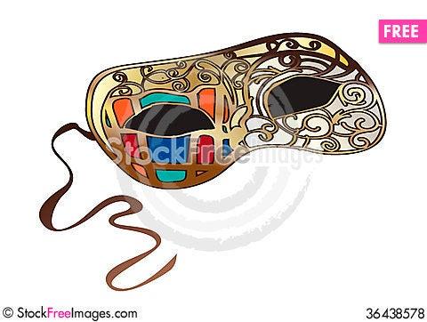 Free Bright Venetian Carnival Mask Royalty Free Stock Photos - 36438578