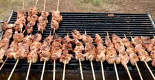 Free Chicken Grill Skewers Stock Image - 36430831