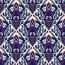 Free Damask Seamless Pattern Blue Royalty Free Stock Photo - 36431075