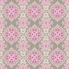 Free Cute Pattern Damask Pink Stock Image - 36431091