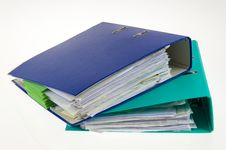 Binders Stock Images