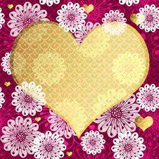 Free Valentine Floral Frame Stock Image - 36431401