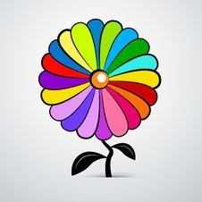 Free Flower Illustration Isolated On White Background Royalty Free Stock Images - 36431579