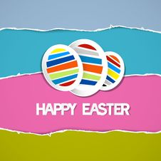 Free Easter Eggs On Retro Torn Paper Background Royalty Free Stock Photography - 36431647