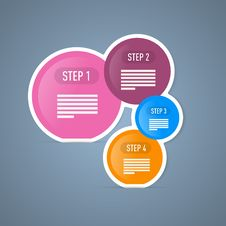 Free Four Tutorial Steps, Infographics Web Layout. Stock Photo - 36432000
