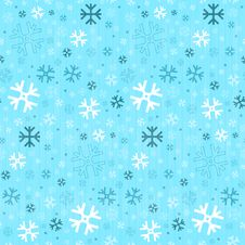 Free Seamless Blue Winter Background With Snowflakes Stock Image - 36432041