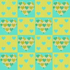 Free Valentines Vector Patchwork Seamless Pattern Royalty Free Stock Photo - 36432055