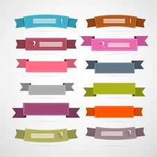 Free Retro Ribbons, Labels Set Stock Images - 36432574