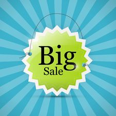 Free Blue, Green Big Sale Label Background Stock Photos - 36432693