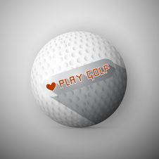 Golf Ball Illustration Royalty Free Stock Images