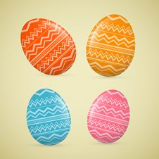 Free Abstract Vector Easter Eggs Stock Photo - 36432940