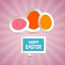 Free Retro Paper Pink, Red, Orange Eggs Royalty Free Stock Photo - 36433005