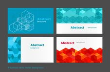 Free Vector Abstract Background Set Royalty Free Stock Images - 36434129