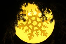 Free Yellow Snowflake Background Stock Image - 36435521