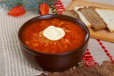Red Soup Borsch Stock Images