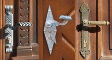 Free Three Doors Royalty Free Stock Images - 36438659