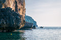 Free Landscape. Sea, Rocks And A Boat Royalty Free Stock Photography - 36449227