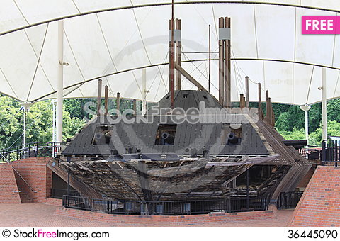 Free USS Cairo Ironclad War Ship Stock Photo - 36445090
